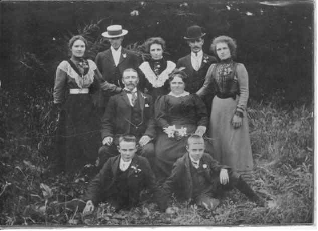 Henry James and Emily Ann Ford (formerly Gadd) and their family