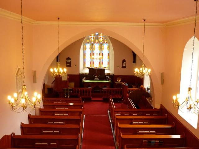Interior of Newtownsaville Church, Tyrone, Ireland