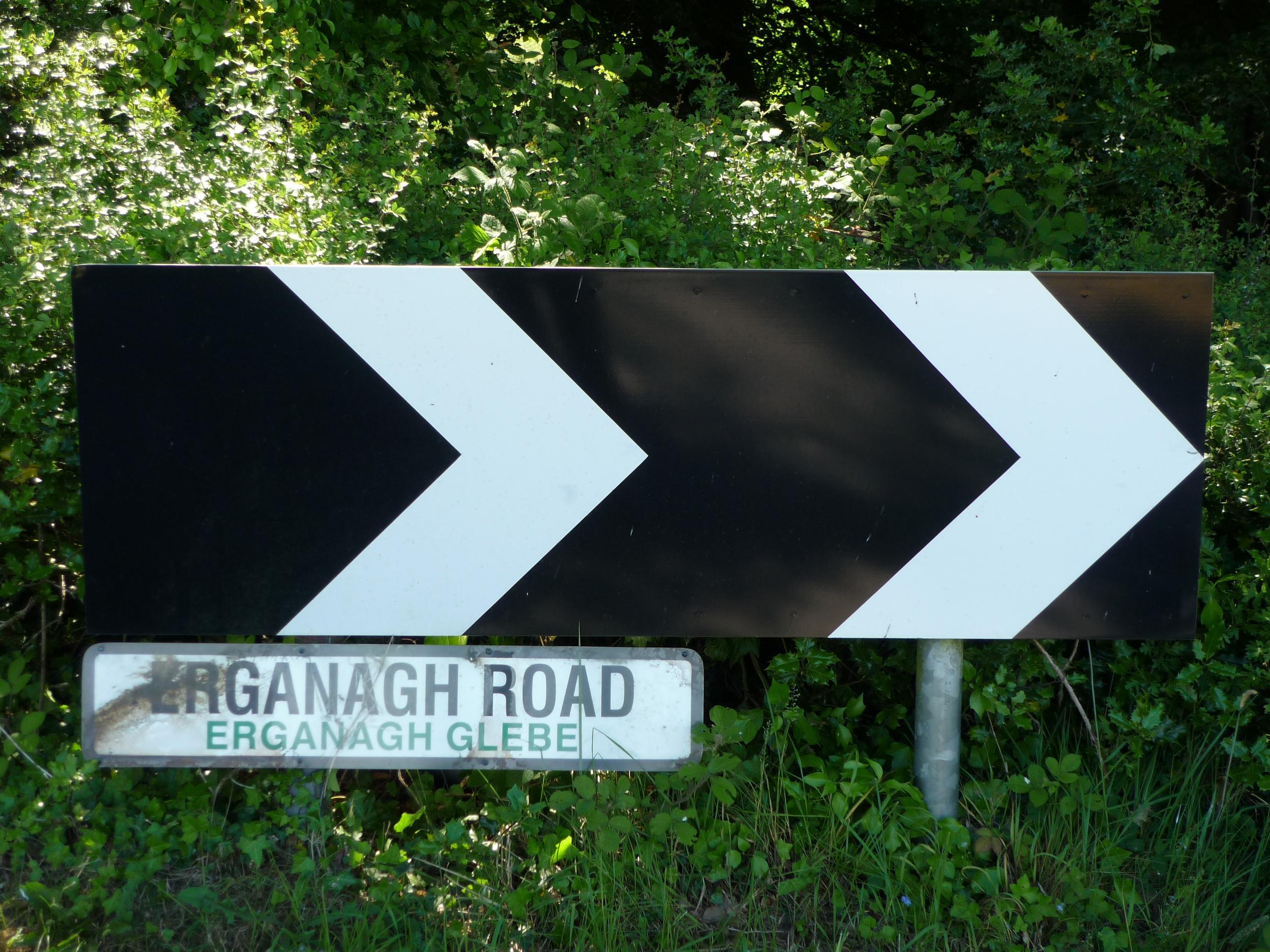 Erganagh Road/ Glebe Road Sign