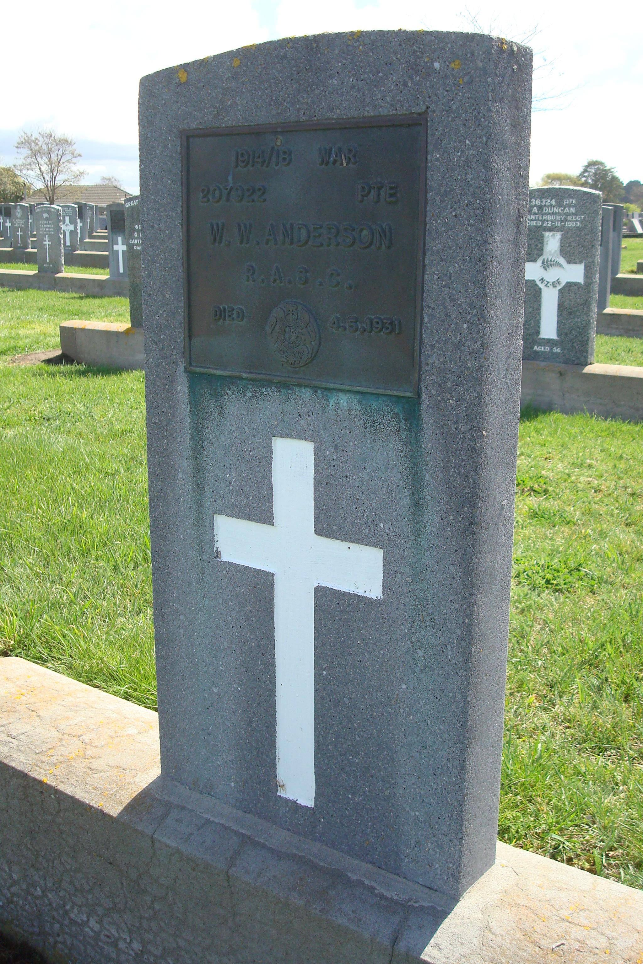 Grave of William Walter Anderson