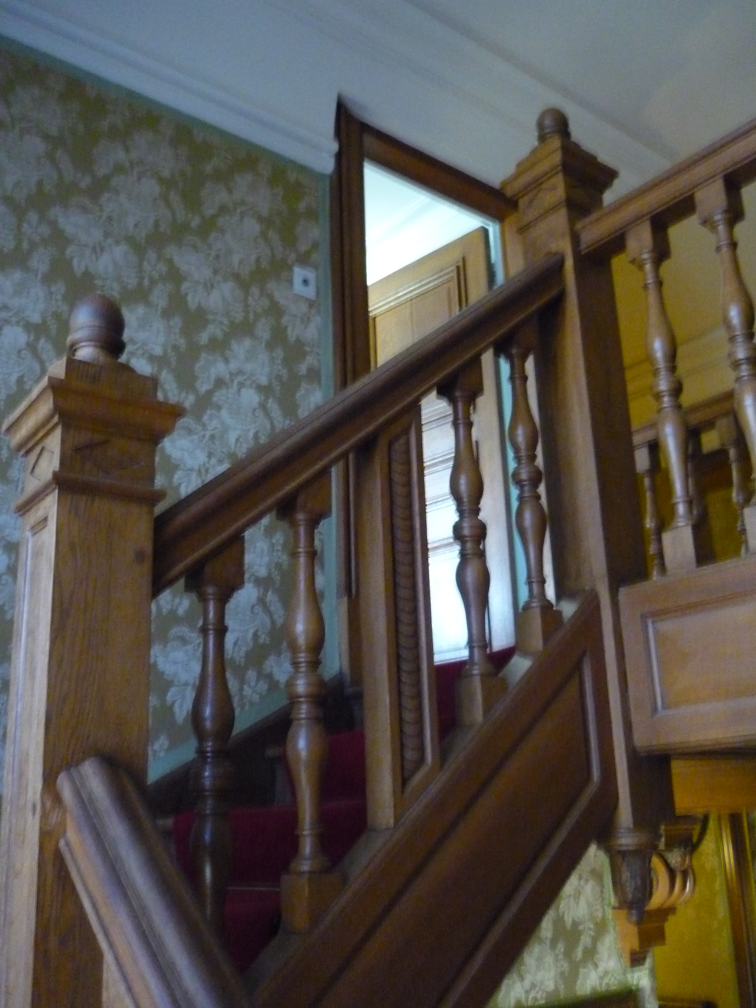 Staircase reputably built by Robert Jnr. Anderson at Waddesdon Manor