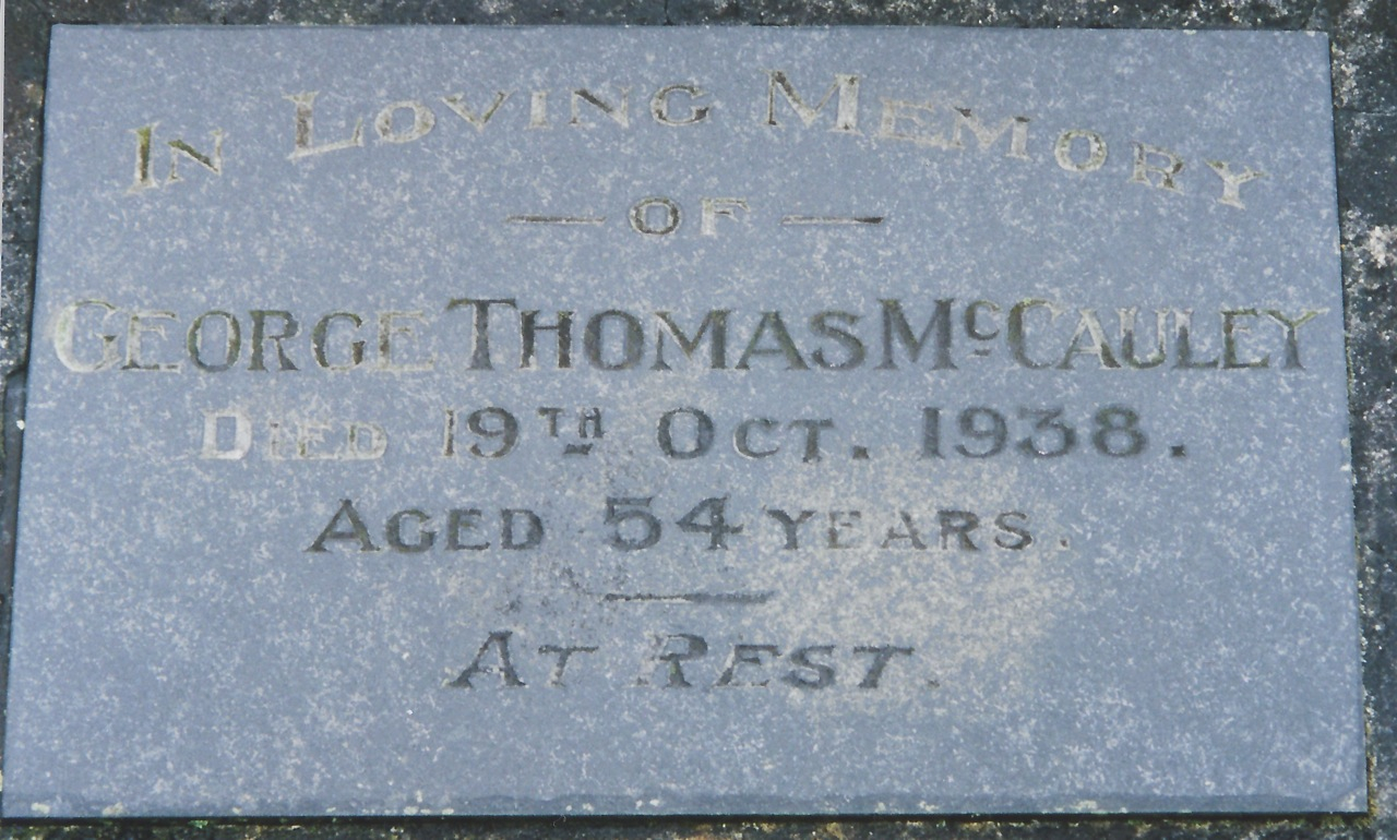 Grave of George Thomas McCauley
