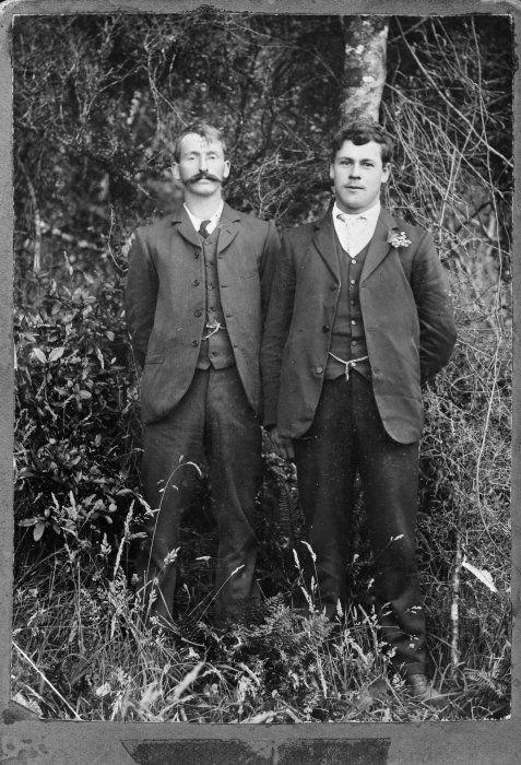 George McCauley and unidentified man, c. 1910