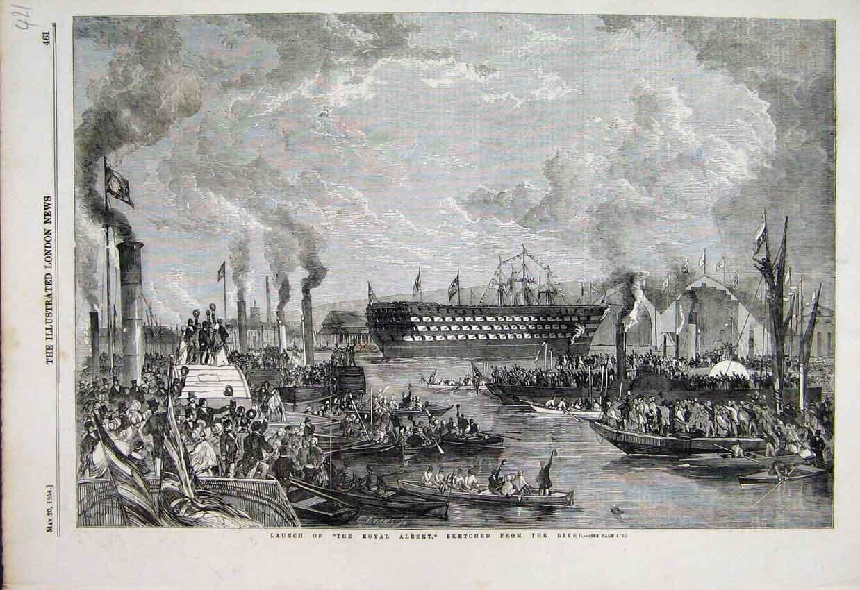 HMS  Royal Albert--  launch