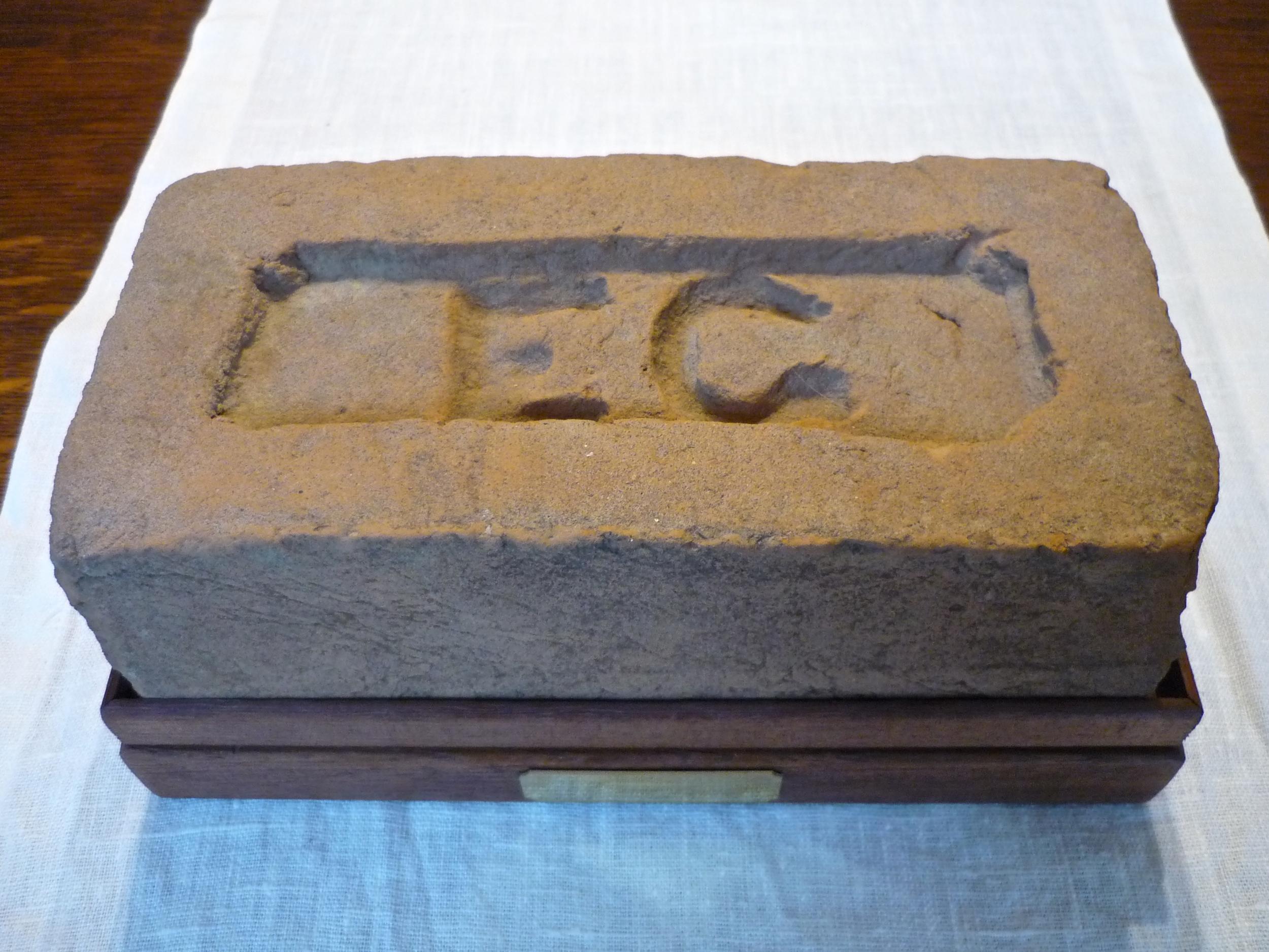 Brick made by Elijah Gadd