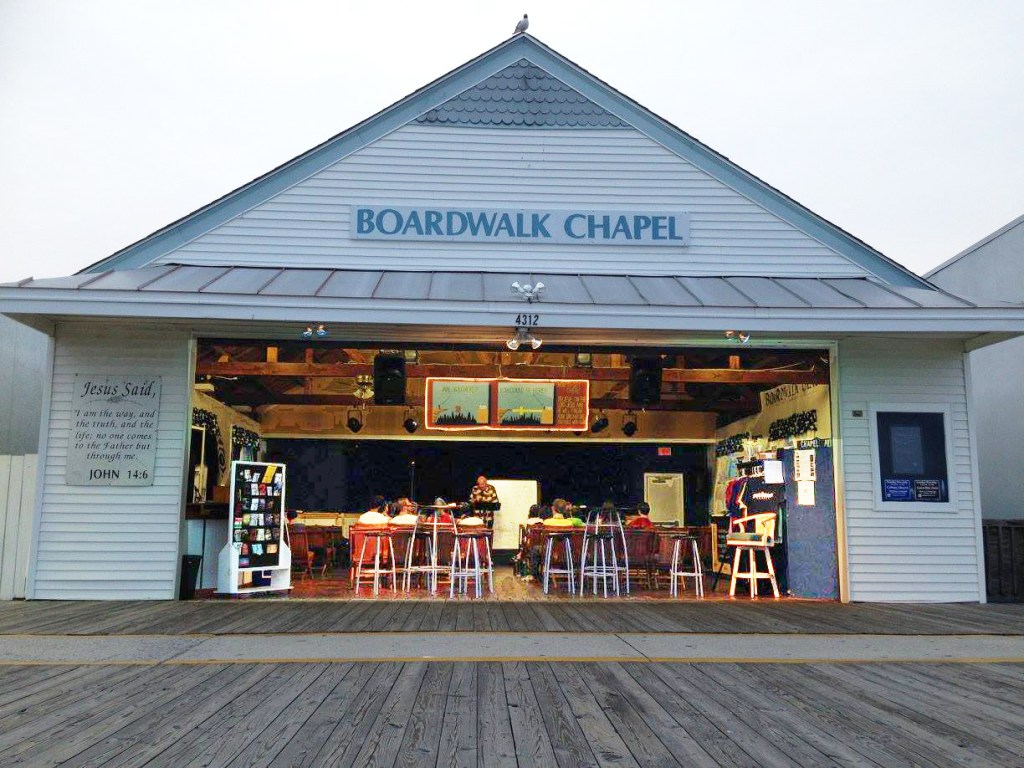 The OPC reaches out to visitors at Boardwalk Chapel in Wildwood, NJ