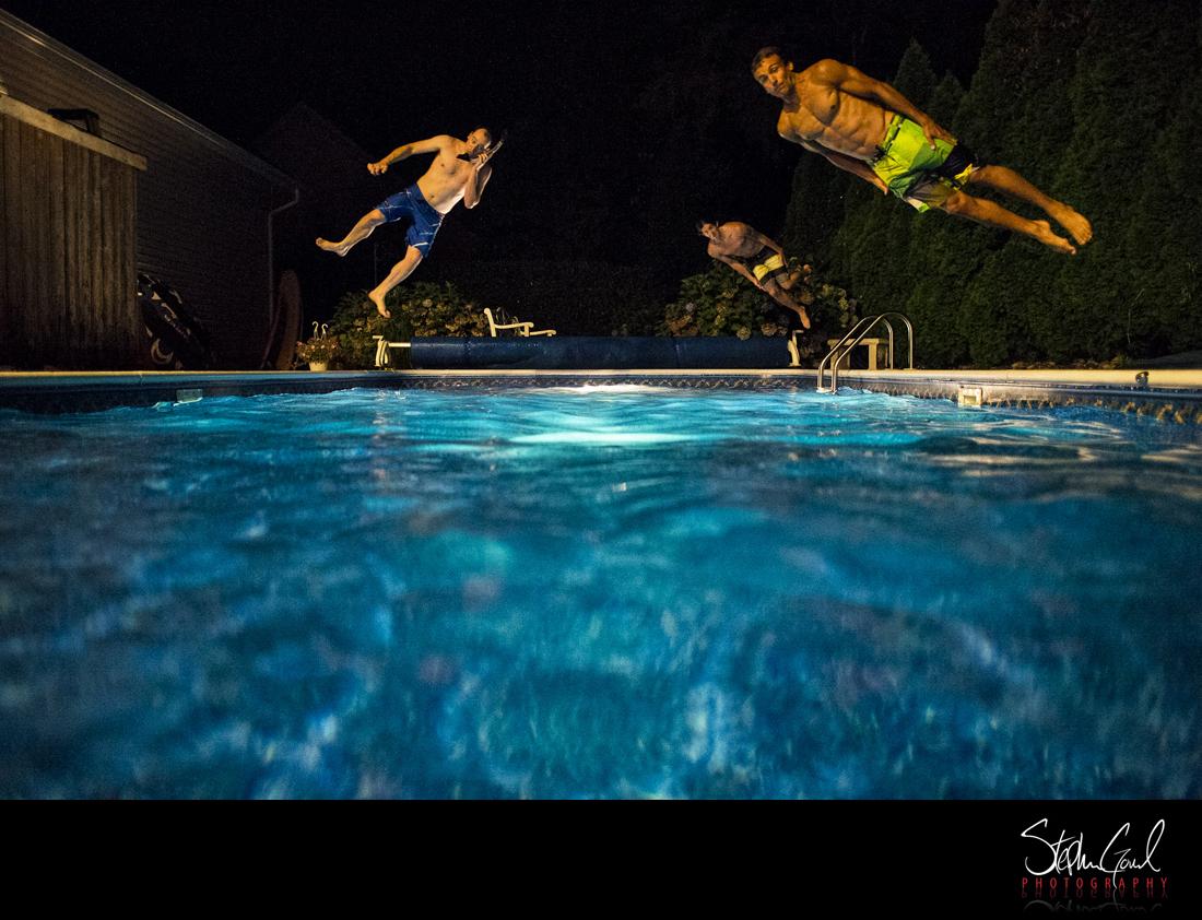 salmon into the pool