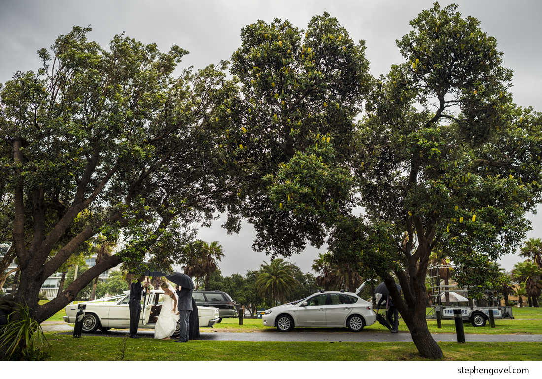 rainy manly wedding