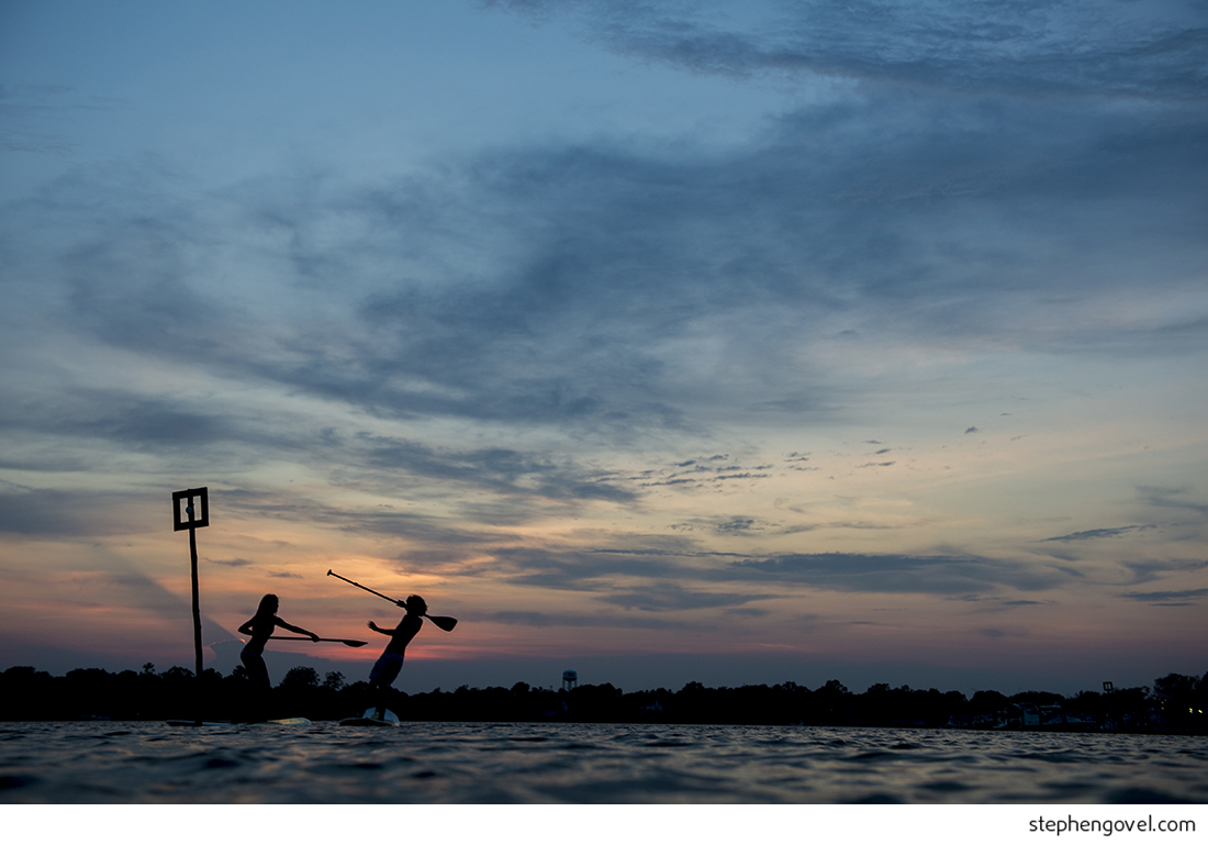 manasquan sup glimmer glass engagement photo session sunset