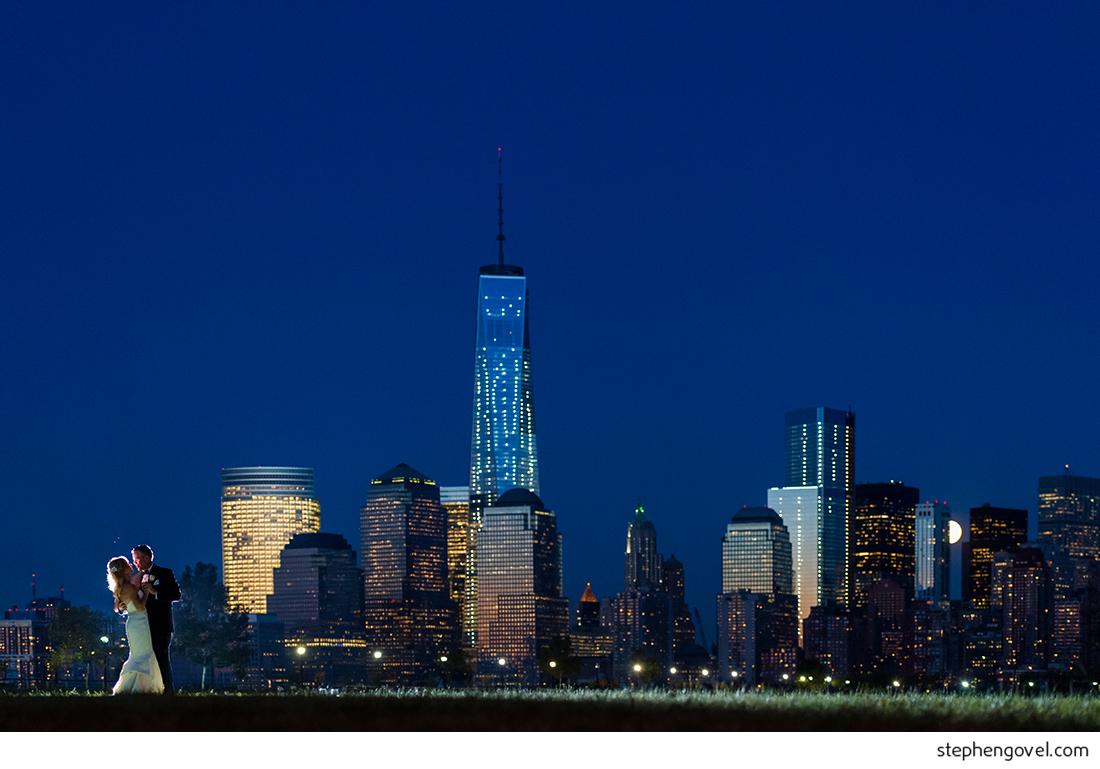 new jersey new york city nyc wedding skyline night photography