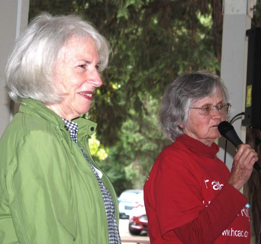 HCAO board member Nancy Sullivan and MVHCA Chair Roberta Hall