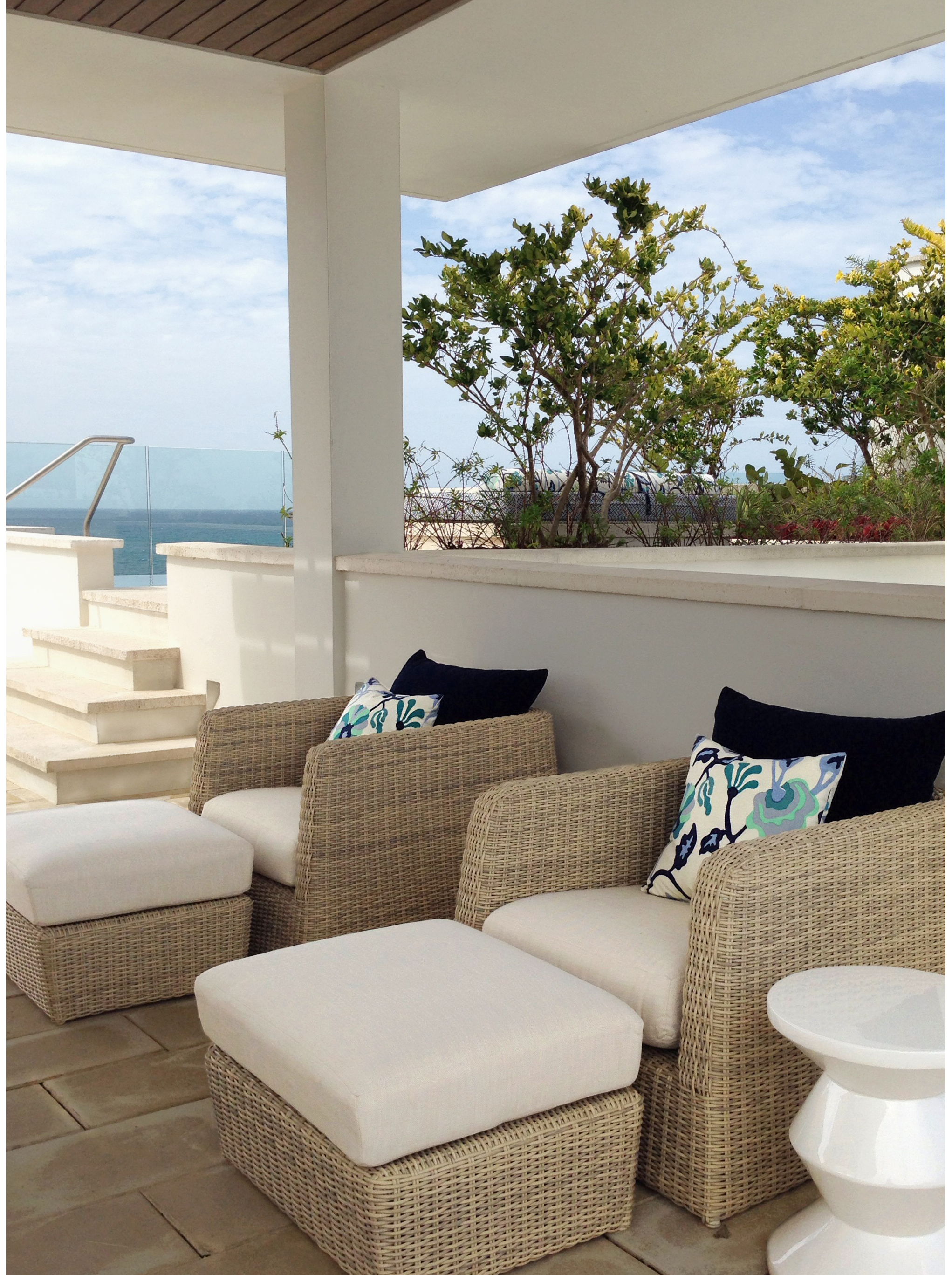 Jacqueline Pagan Interior Design|West Beach Residences at Dorado Beach a Ritz Carlton Reserve Rooftop Terrace