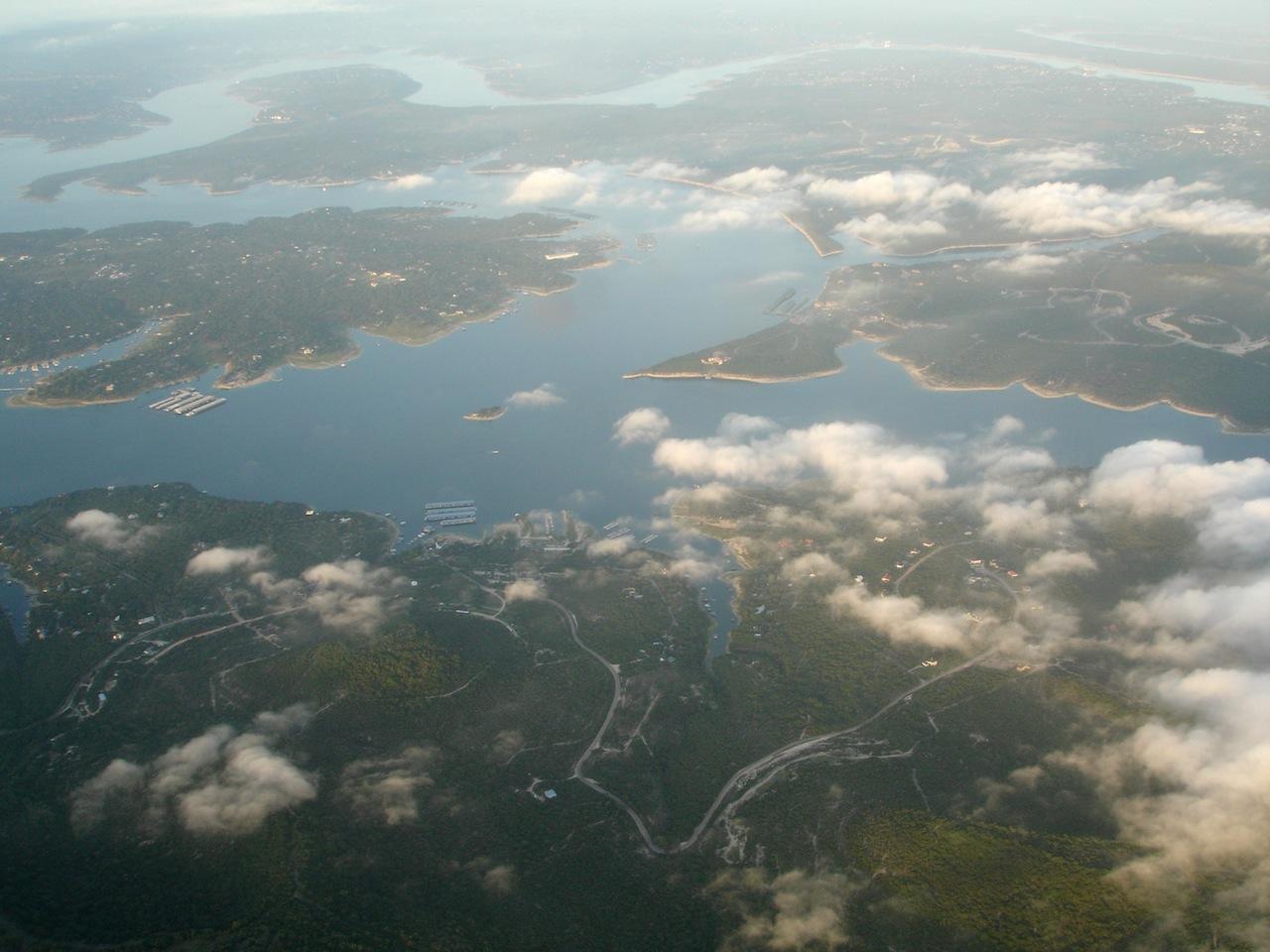 Over Lake Travis