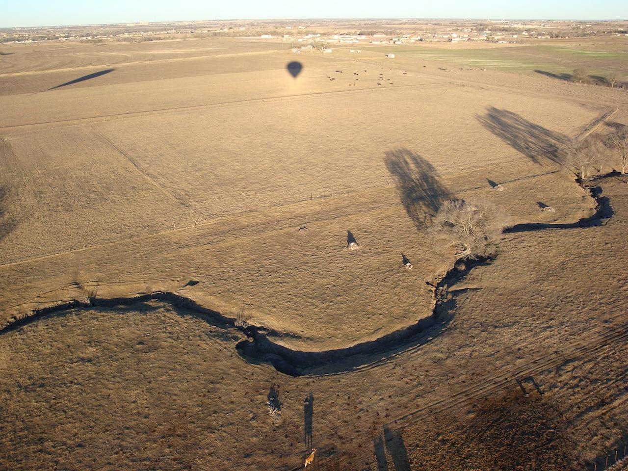 Arroyo through black-land prairie