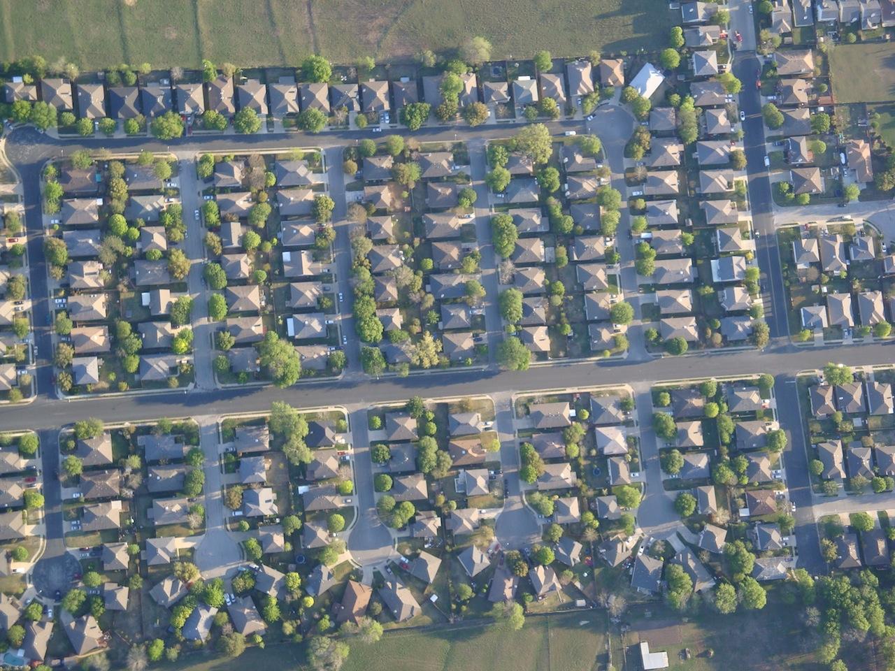 Suburbs, was farm land