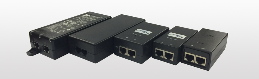 PoE adapters come in all shapes and sizes. Yours can look like any of the above pictured.