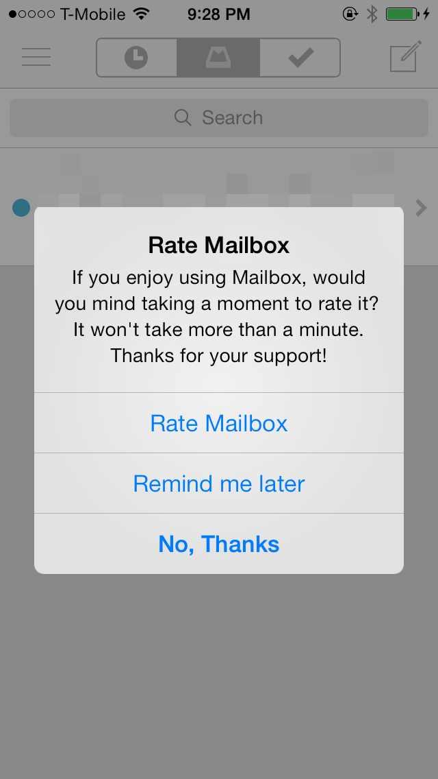 Rate this app dialog box