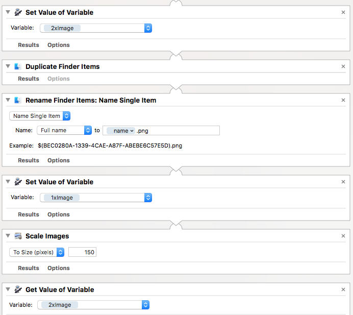 A screenshot workflow using Automator on the Mac