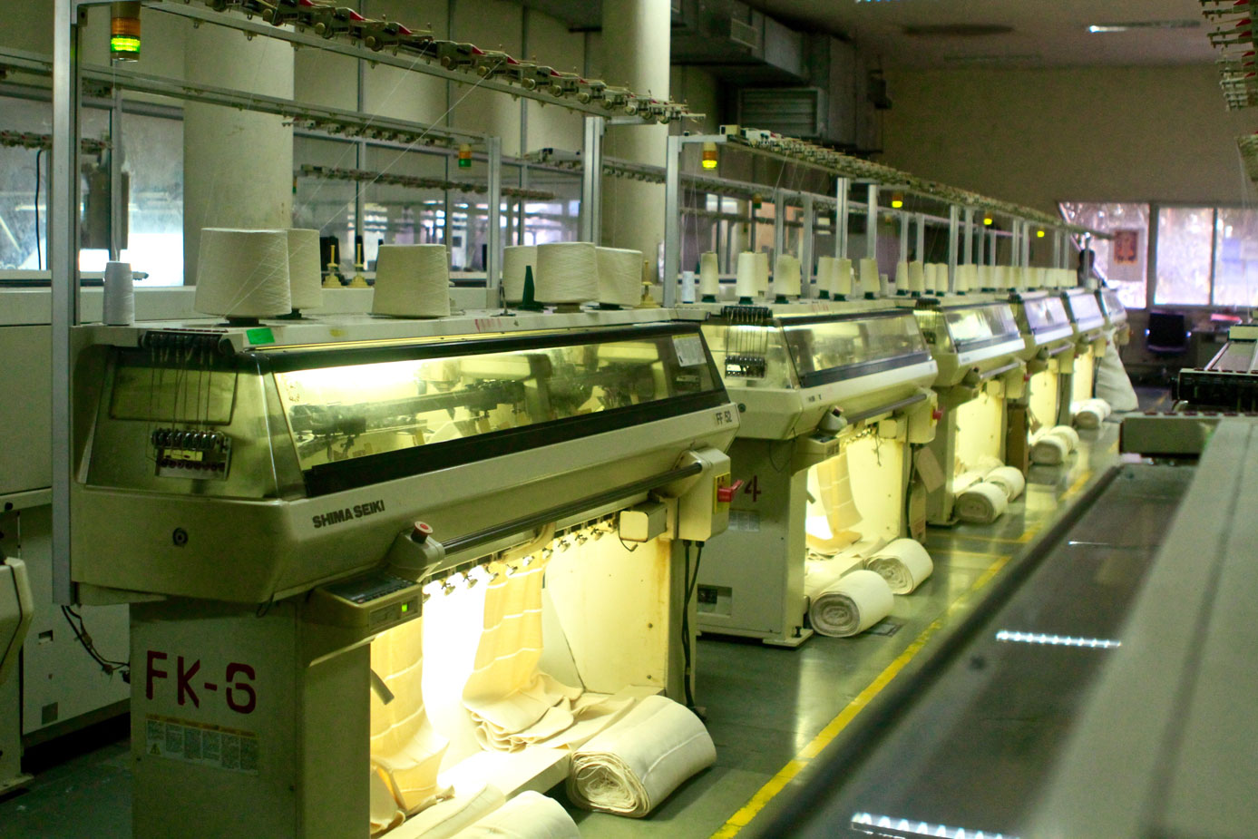 Shima Seiki flat-knitting machines
