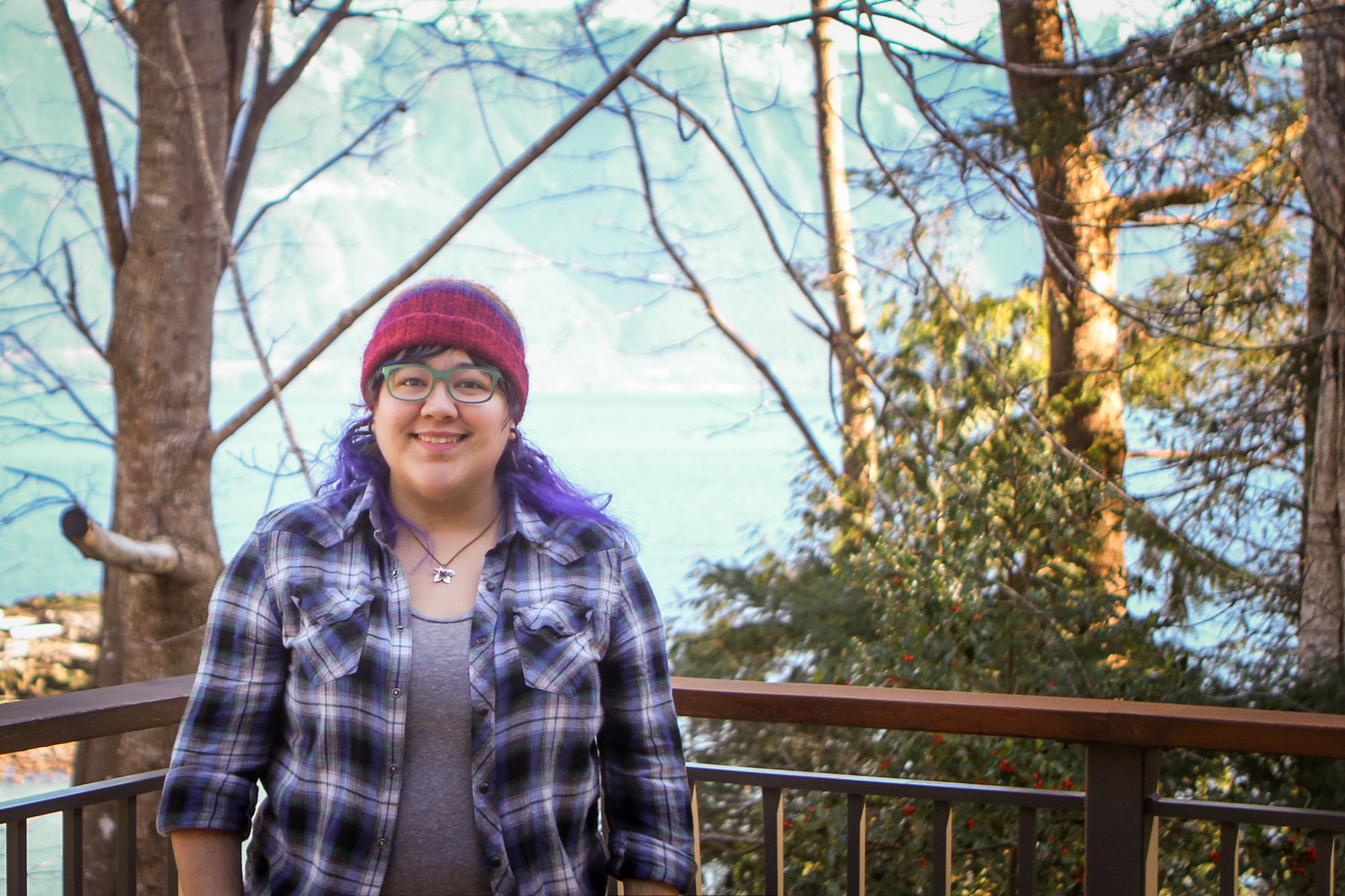 Me, being queer outdoors on Gambier island.