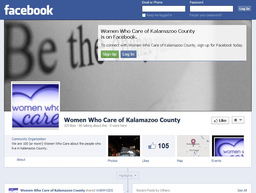 Women Who Care of Kalamazoo County - Facebook page.JPG