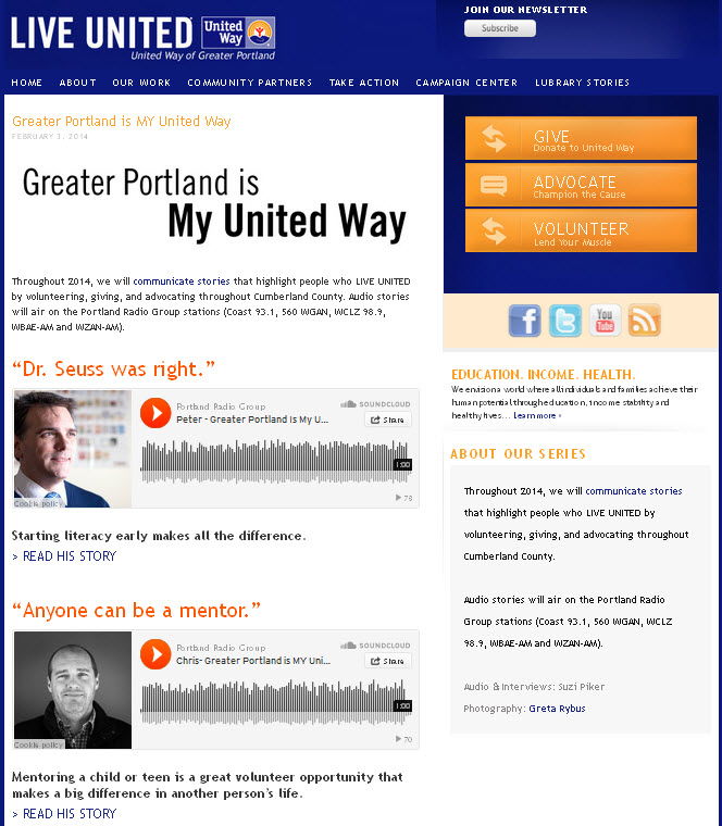 UW of Greater Portland - Stories of people who give-advocate-volunteer.jpg