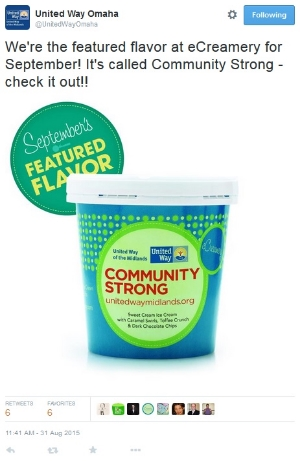 United Way of the Midlands - Tweet About Community Strong Ice Cream.jpg
