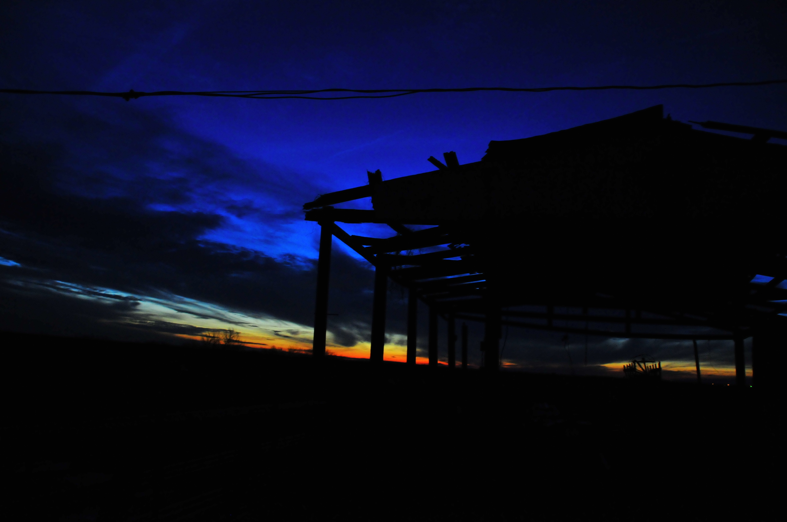 Evening sky in Falfurrias, Texas © David Nittler