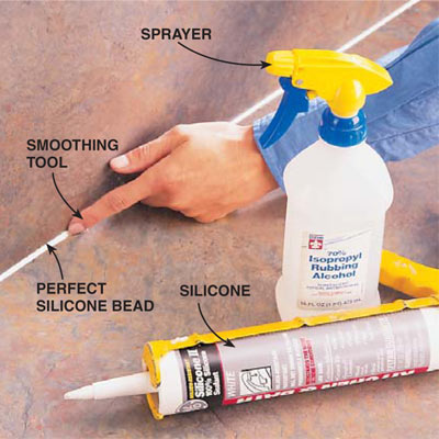 rubbing alcohol used as a lubricant to smooth caulk bead.jpg