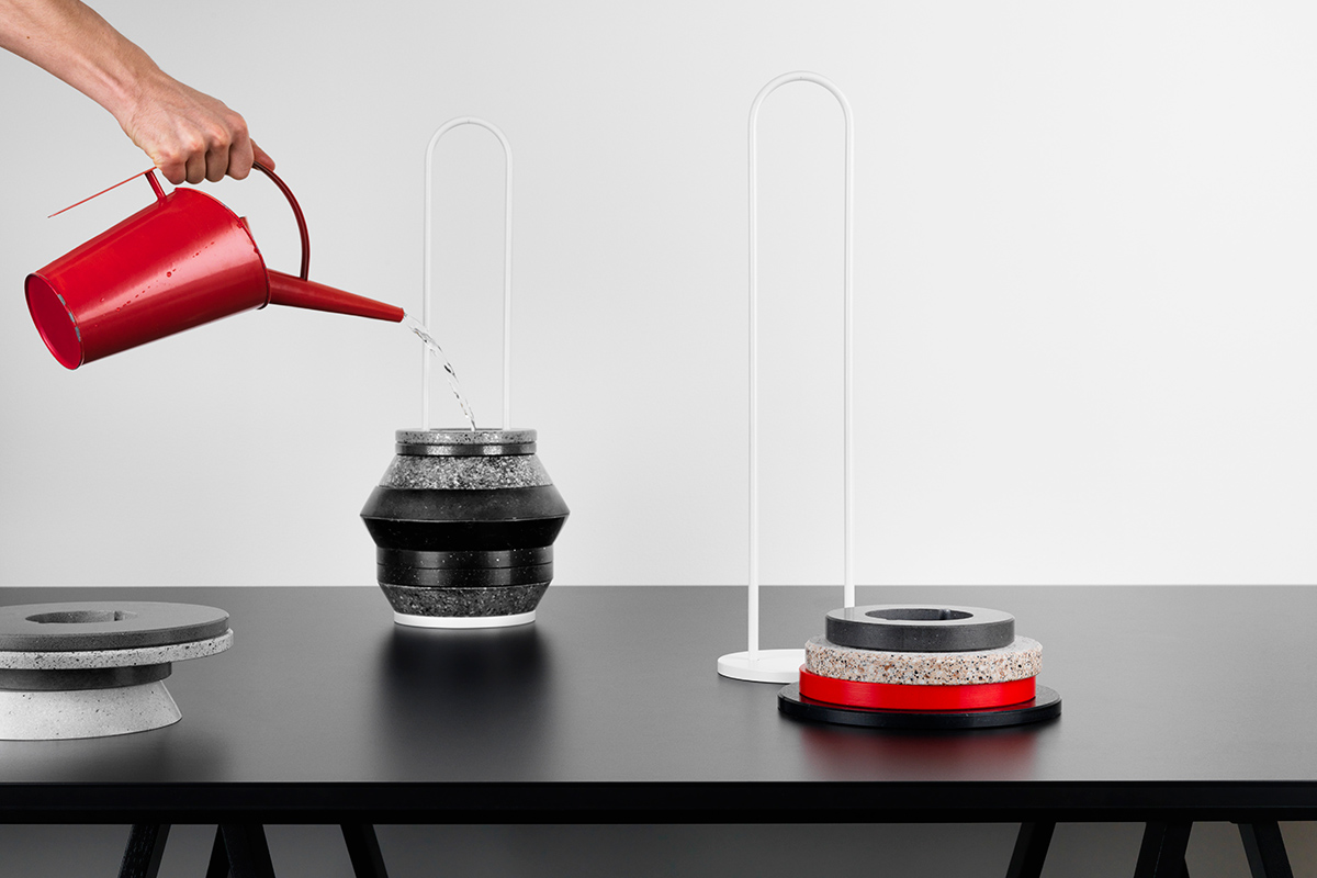 Slab vases, a DIY stackable concept using scrap Silestone (Form Us With Love)