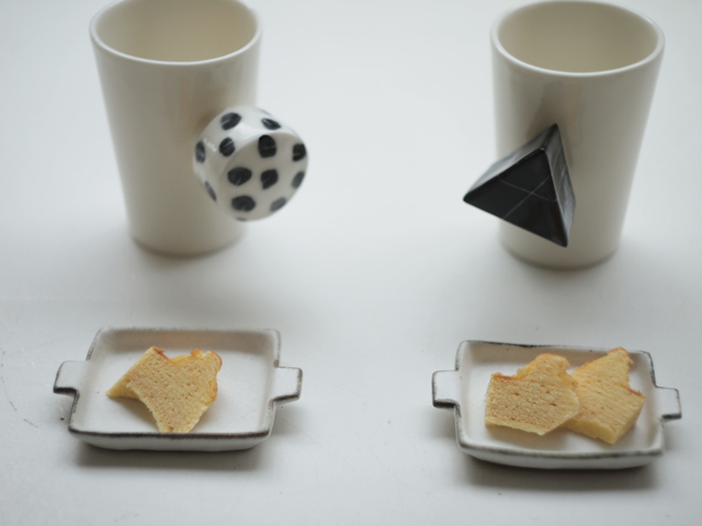 Ayumi Makishima cups, Nobuyuki Ishioka plates