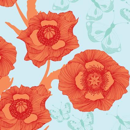 Poppyflower Blue by Camilla Meijer