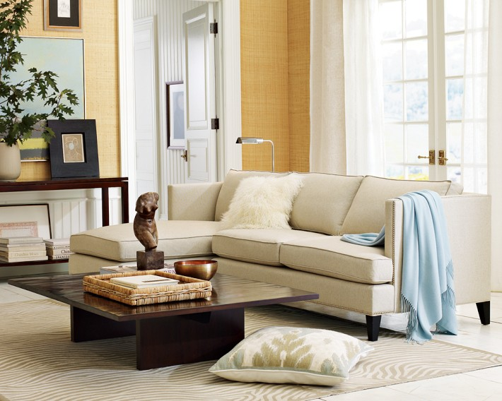 The traditional profile of the Nassau coffee table is freshened up by an exciting rippled bamboo surface finish.
