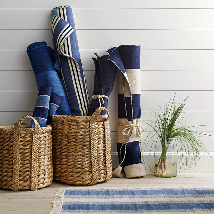 Higbee Round Baskets add a comfortable, handcrafted, utilitarian touch.
