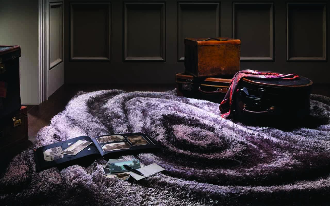 Outrageously plush 3D Mienterra rug from Stepevi's Terra collection.