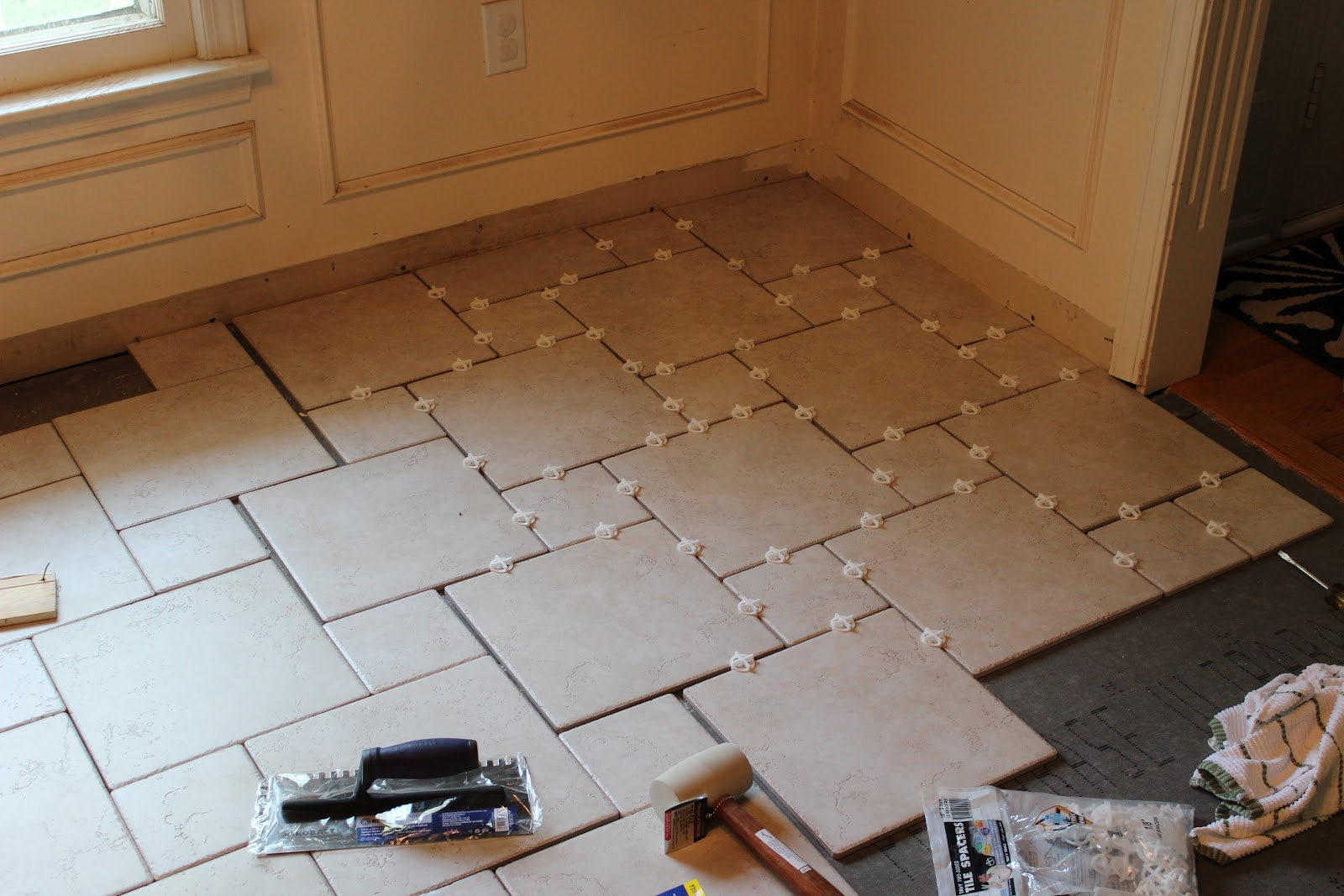 This homeowner thought he could lay floor tile. (He wound up hiring a professional.)