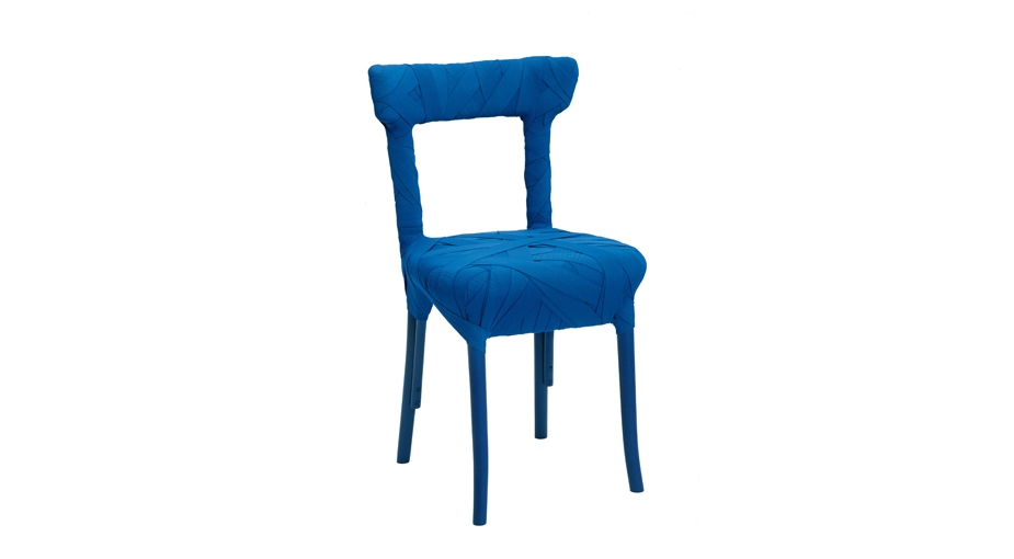 You can add color by choosing imaginative seating, as with Peter Traag's Mummy chair.