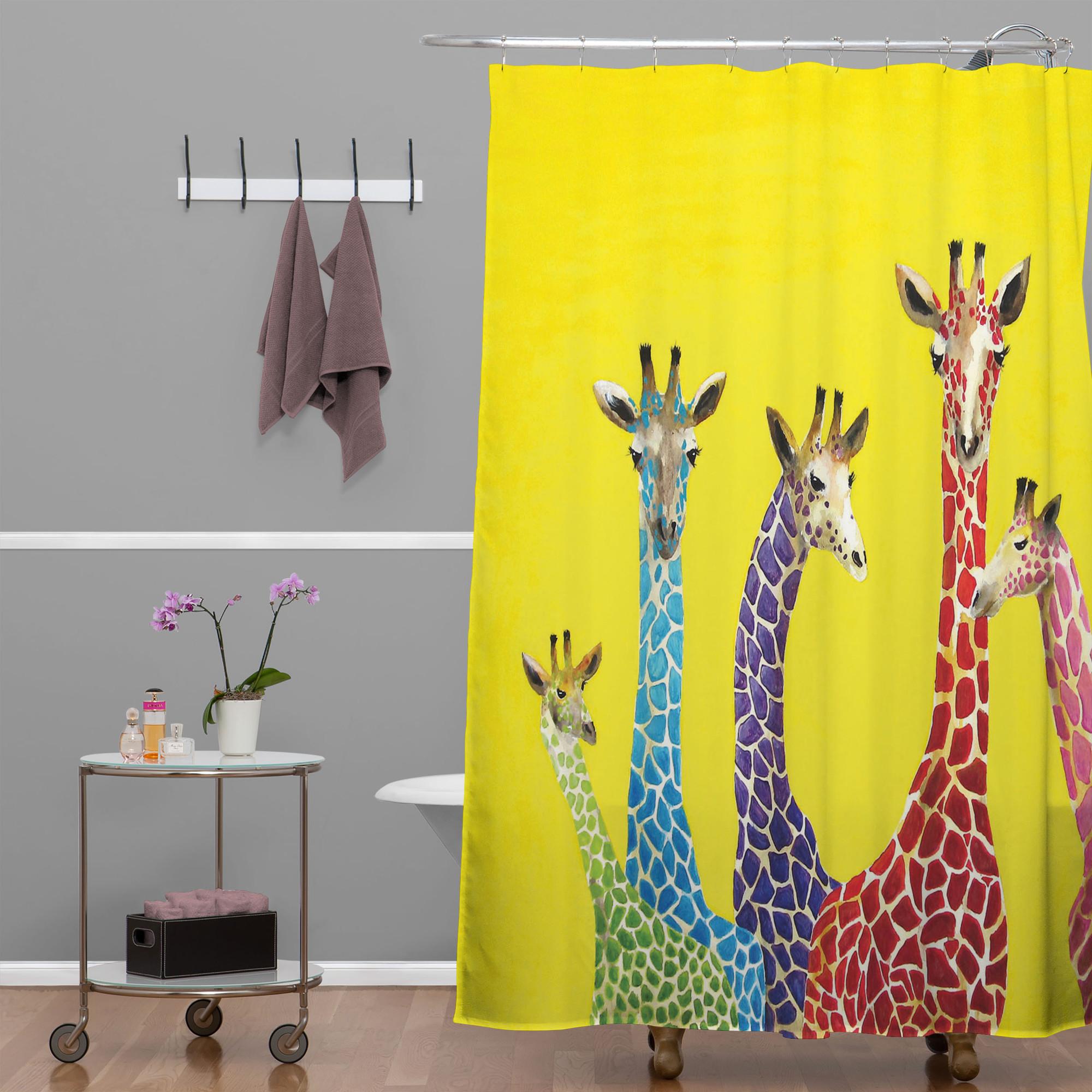 Like watching  Yellow Submarine:  Clara Nilles Jellybean Giraffes Shower Curtain for DENY Designs
