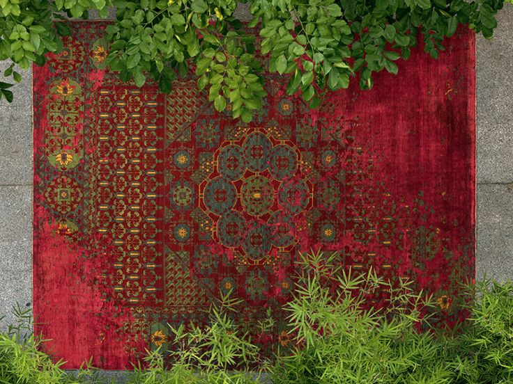 Jan Kath: rug from his new Erased Heritage collection, an homage to traditional Oriental carpets