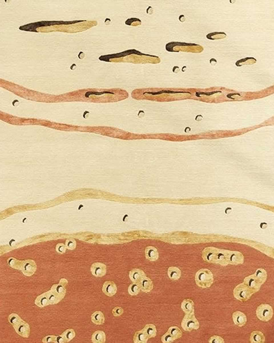 Deirdre Dyson: Golden Stone rug from Designs from the Seashore Collection
