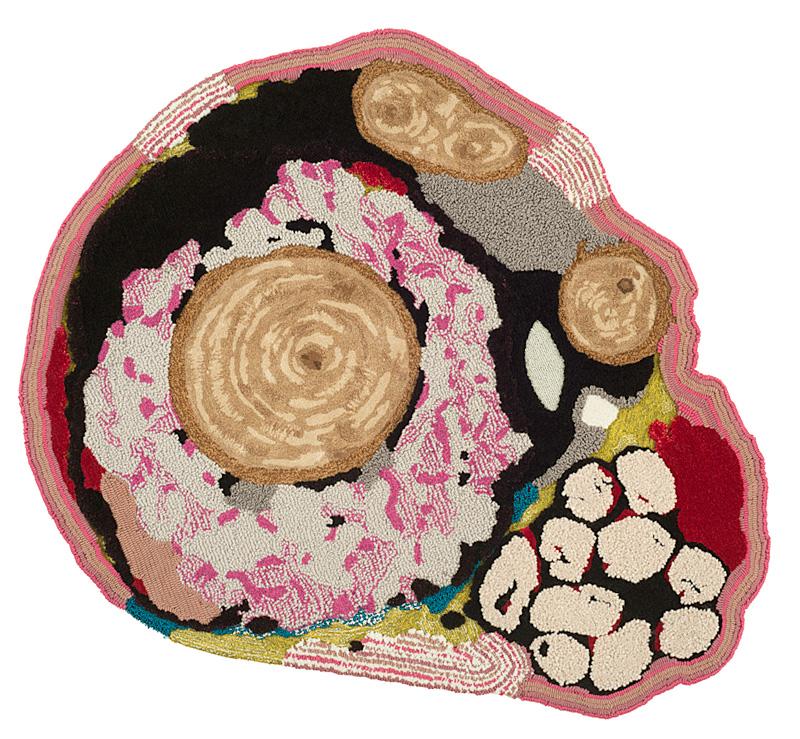 Tai Ping Carpets: series of circular Cold Cut carpets by Chen Chen & Kai Williams