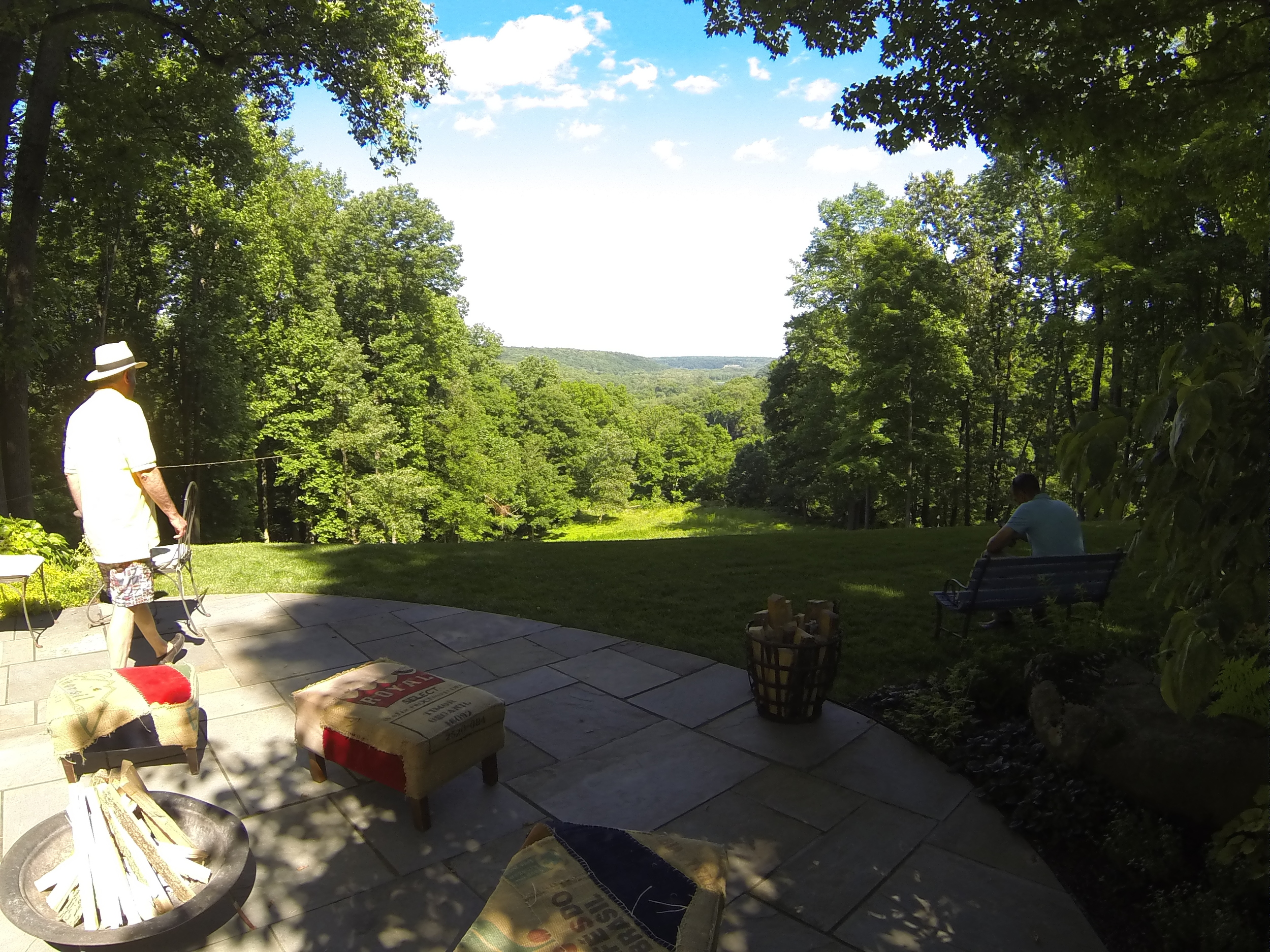 Words (and this photo) don't do justice to the breathtaking view of the Delaware River valley from the lower terrace.