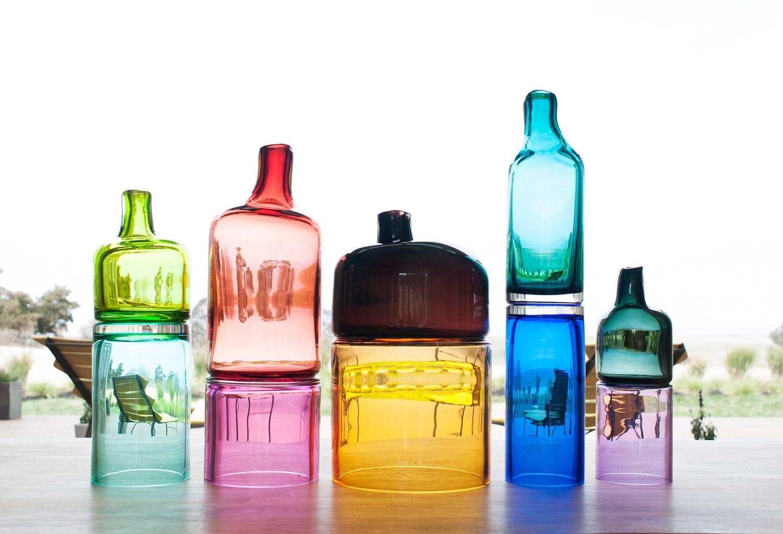 Assorted glassware from SkLO Studio