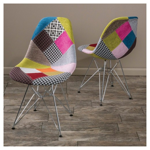 Wilmette Patchwork Fabric Chairs by Christopher Knight Home from Target