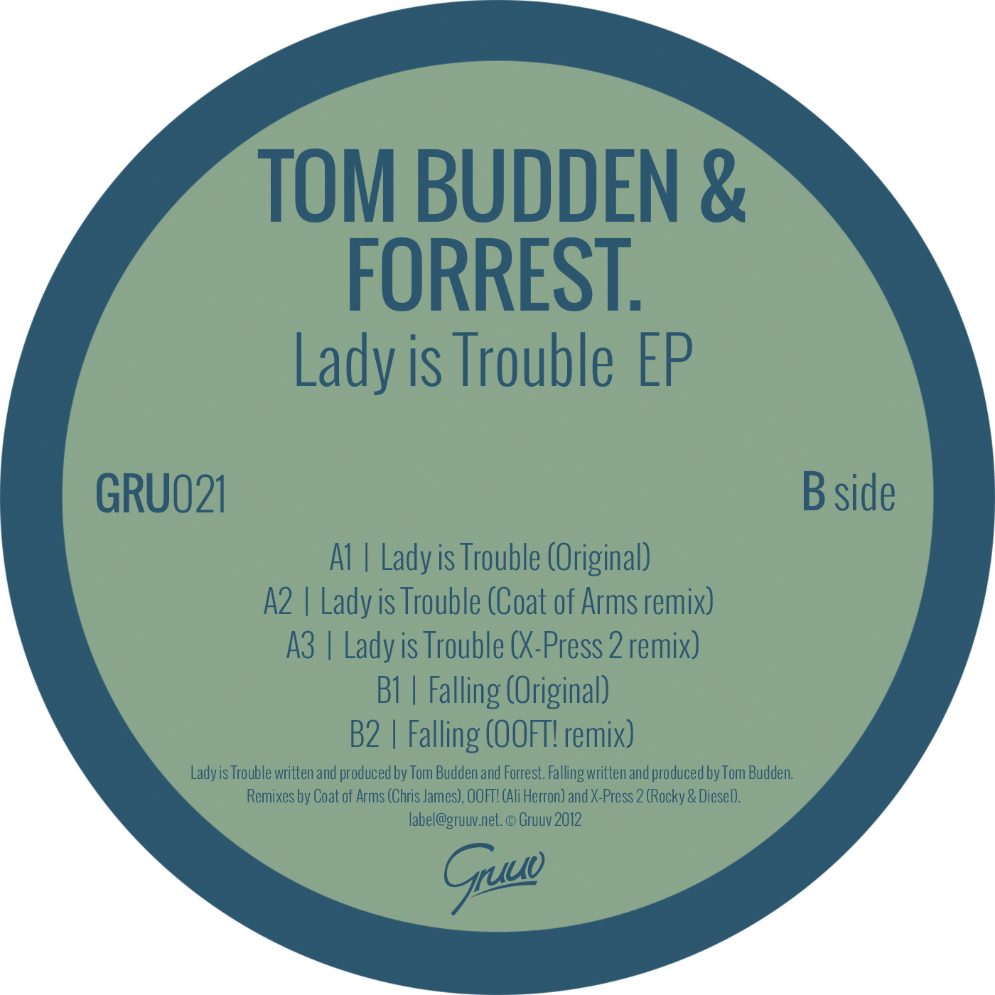 Lady is Trouble EP - Tom Budden & Forrest