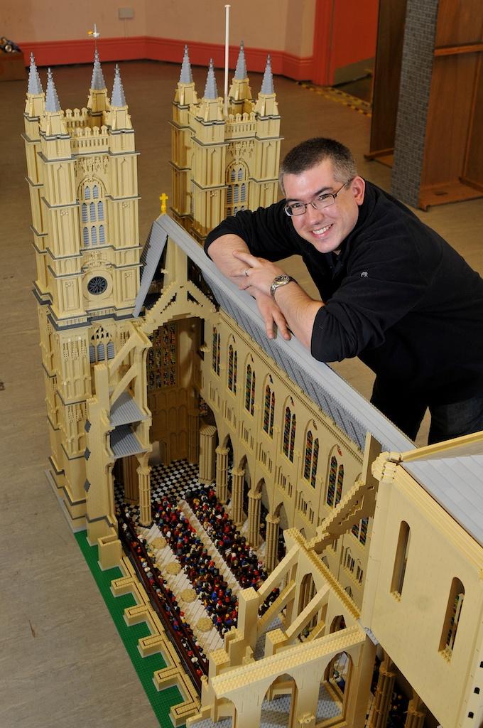 Warren Elsmore with LEGO Westminster Abbey.jpg