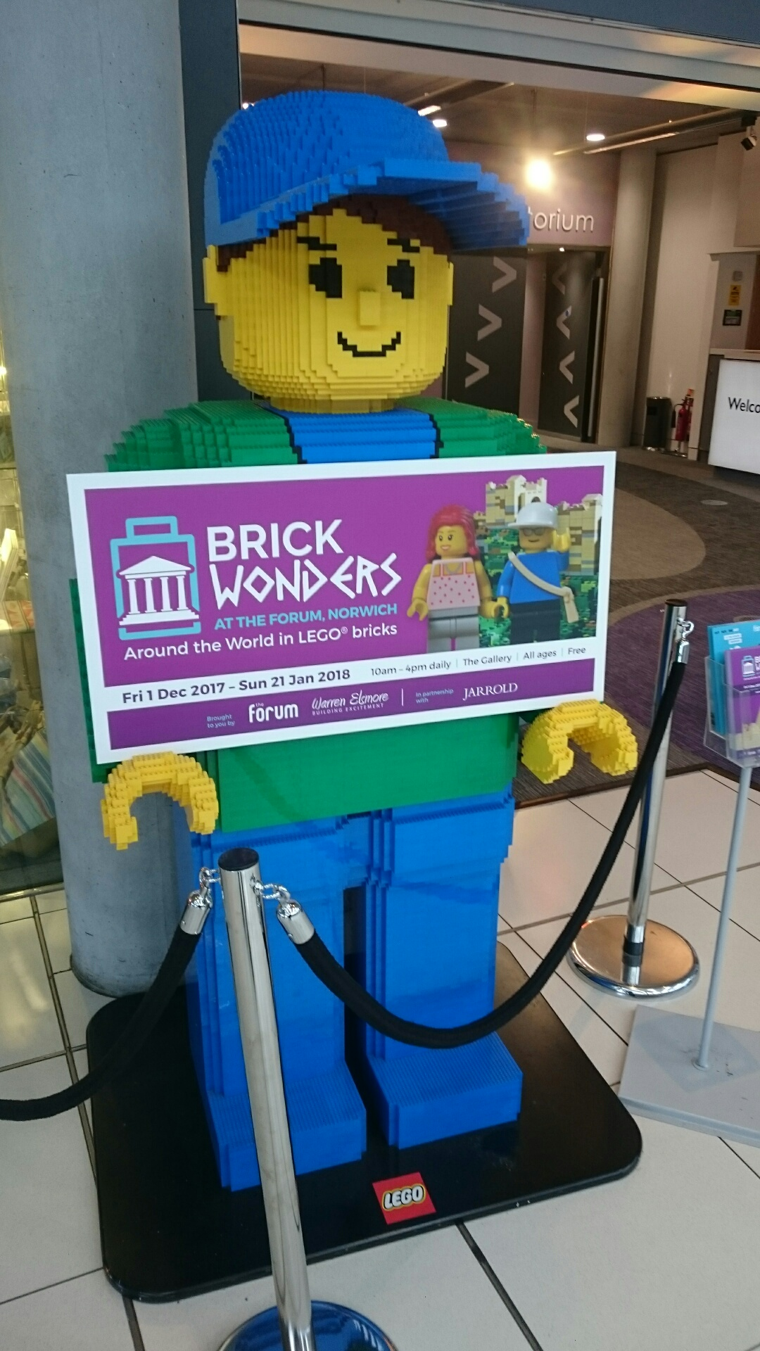 Brick wonders at the Forum, Norwich.