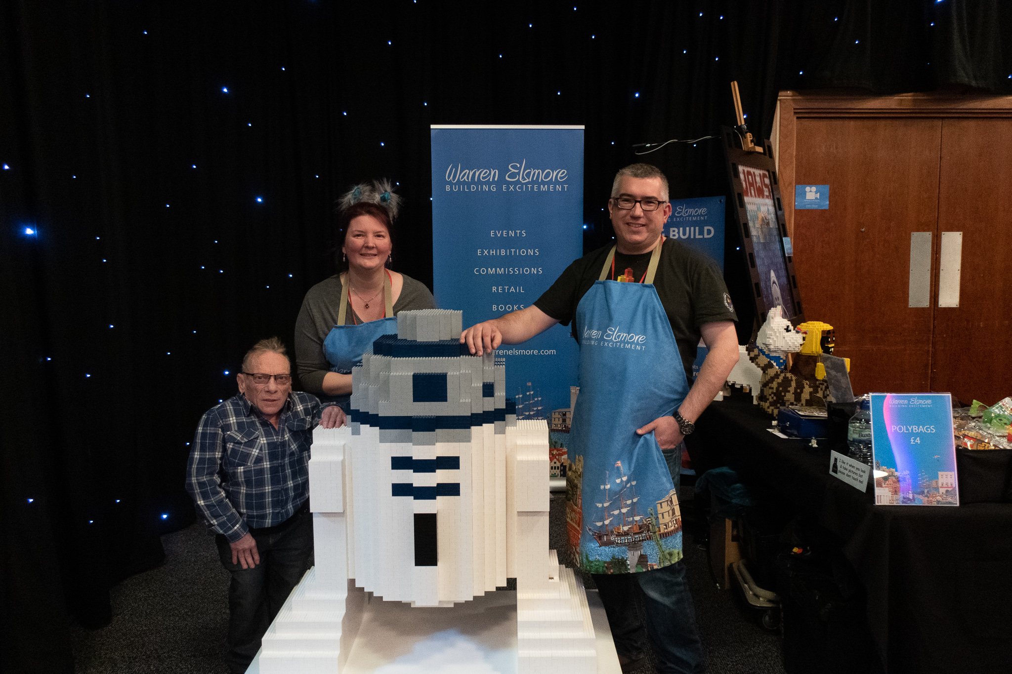The team with R2D2 and actor Jimmy Vee