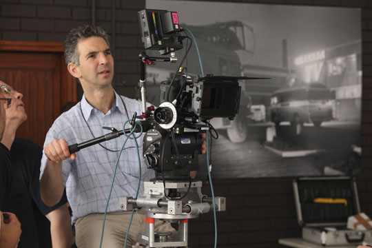 DP Tim Palmer with the Canon 5D MkII rig on the BBC Drama about the beginnings of Coronation Street