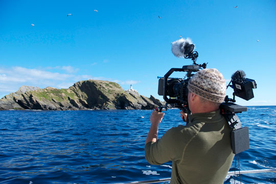 Simon King with a SHAPE rig and Canon 5D Mk2 Pic credit Brydon Thomason